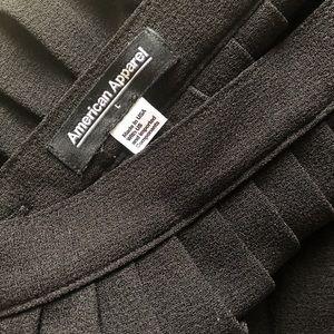 american apparel school skirt